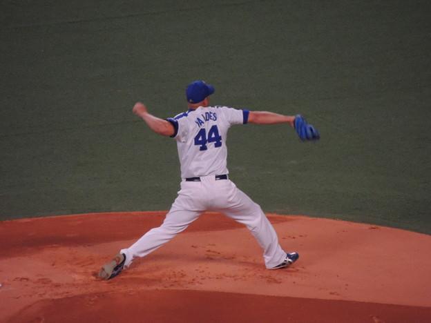 写真: バルデス投手。