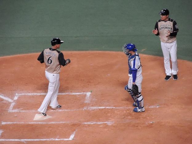 写真: 中田翔選手。