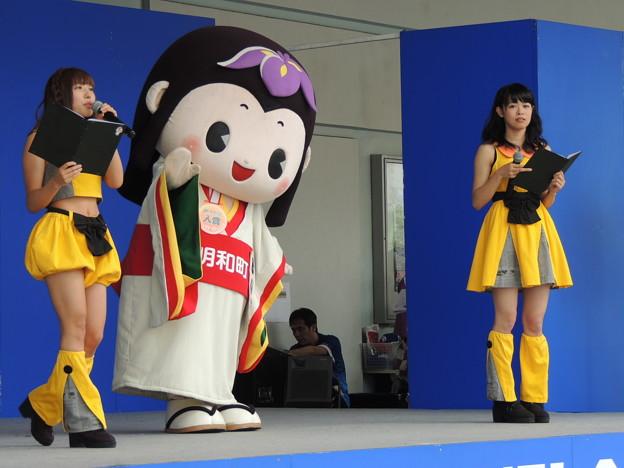 写真: 三重県明和町のキャラクター。