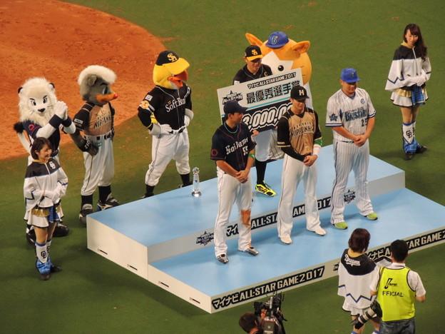 写真: 選手表彰。