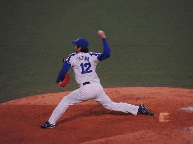 写真: 田島慎二投手。