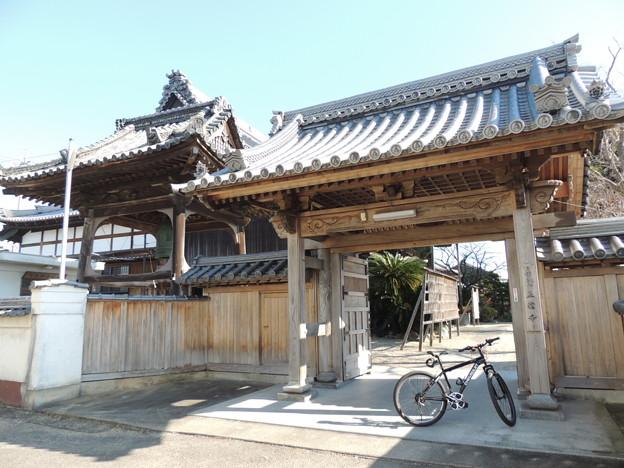 正信寺の門。
