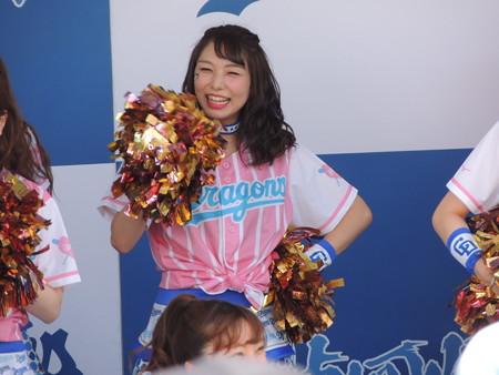 6/24(日) 横浜戦はガールズデーで ドラ恋!限定グルメは「ドラ梅おろしからあげ」にしました。