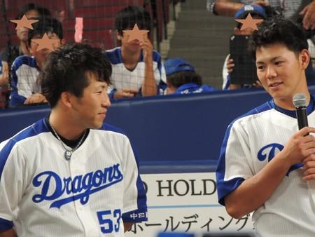 亀ちゃんと周平選手。