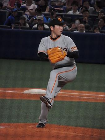 上原浩二投手。