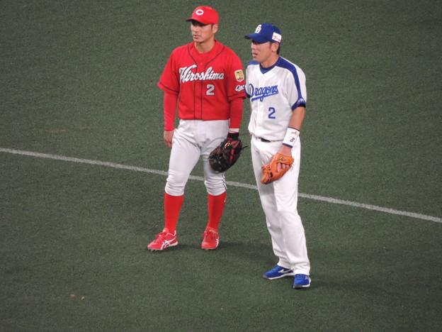 荒木選手と田中選手。