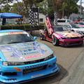 写真: レースカー展示。