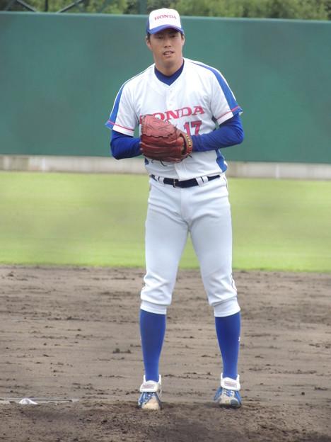 國岡祐樹投手。