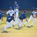 写真: 投手も野手も・・・。