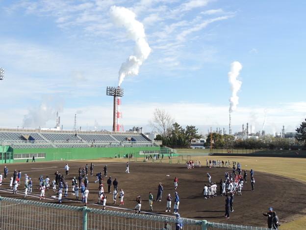 霞ヶ浦第一野球場。