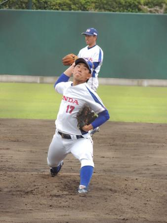 新入団 井村勇介投手。