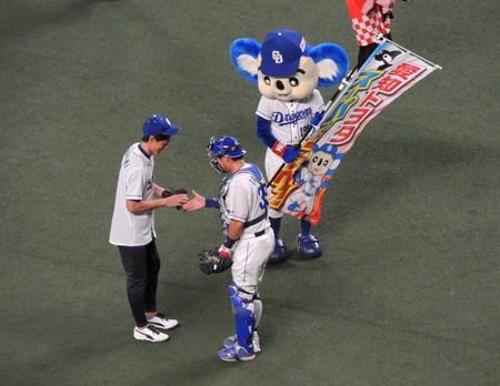 キャッチャーは武山選手。