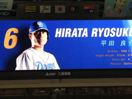 1番ライト平田良介選手。