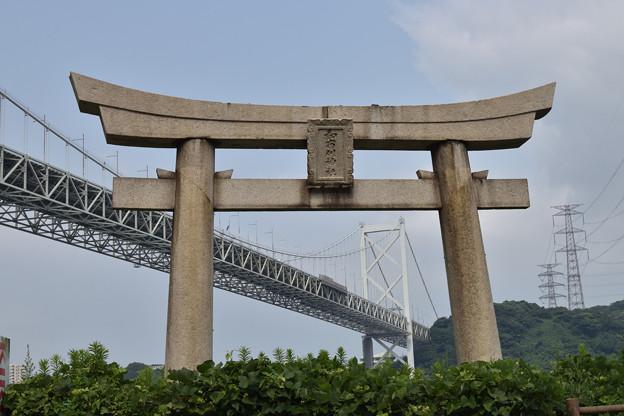 鳥居から関門橋