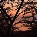 笠山の夕日