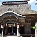 萱葺きの拝殿