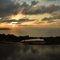 東後畑棚田の夕日