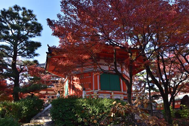 八角円堂と紅葉
