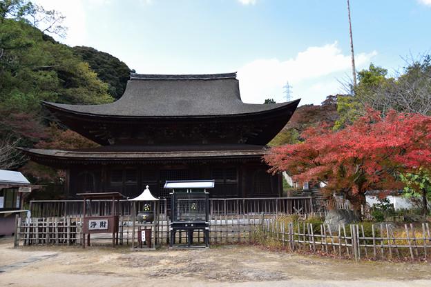 仏殿と紅葉