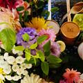 Photos: 花手水 上から見るか