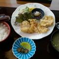 山花温泉レストランはなしのぶ「鶏天セットゆず風味のタレ」