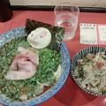 らーめん さかい「鶏辣油(チーラーユ)とコロコロチャーシュー飯」800円と250円