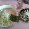 あやめ「濃厚塩らーめん&チャーシュー丼(生姜焼き風味)」800円&300円