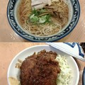 Photos: ほっぺ家はなれ斗香庵「中華そば&味噌カツ丼」580円&390円