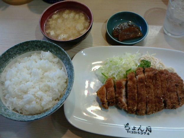 食堂ゝ月「カツ定食」930円ちょんげつ