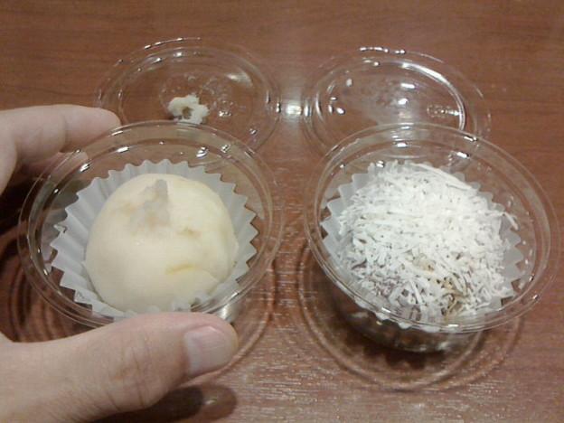 おはぎ専門店ももすず「ゆずしろあん&黒糖ココナッツ」540円