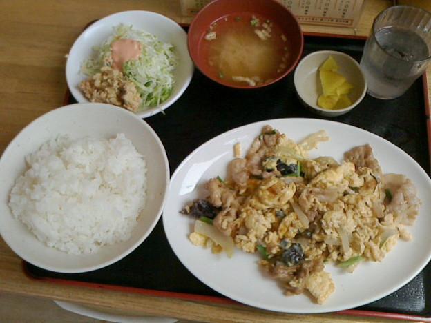 定食屋 六宝亭「豚チャンプルB定食」780円