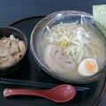 大衆食堂あきら「塩ラーメン+ミニ豚丼」880円