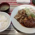 味かつ「メンチカツとスタミナ定食」950円