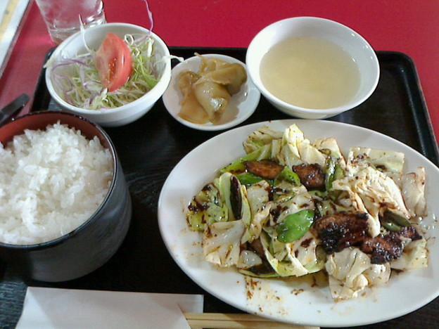孔子餐店「ランチB回鍋肉」860円こうしはんてんほいこうろう
