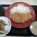 かつや「ロースカツ定食チンジャオロースご飯」979円