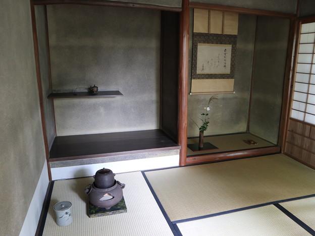 (6)金毛院・茶室「凌雲亭」(床の間)