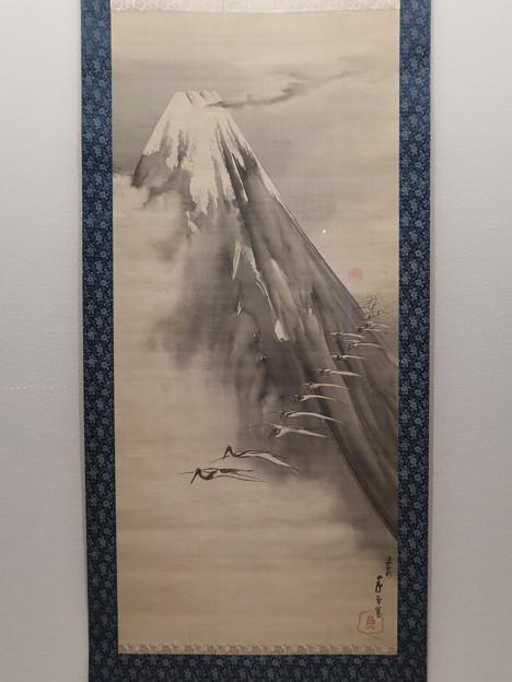 嵯峨嵐山文華館「富士越鶴図」