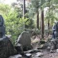 山寺・芭蕉像