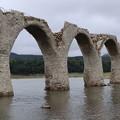 崩壊寸前のタウシュベツ川橋梁1
