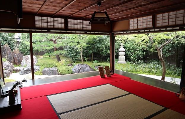 霊源院・庭園「鶴鳴九皐」(額縁)1