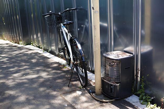 ストーブと自転車