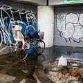 シャッター前の自転車