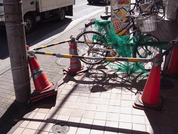 ネットと自転車
