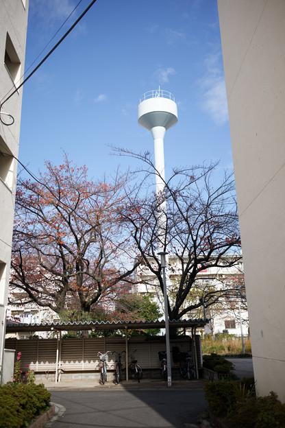 給水塔の見える場所