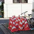Photos: コーンと自転車