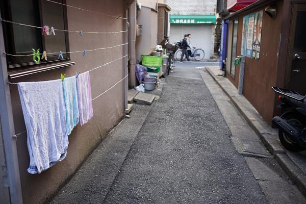 路地のタオル