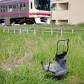 Photos: 電車の見える椅子