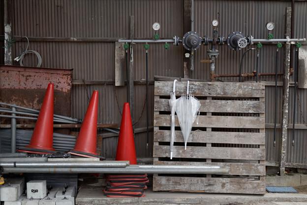 Photos: 傘とコーン