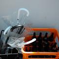 傘と空き瓶