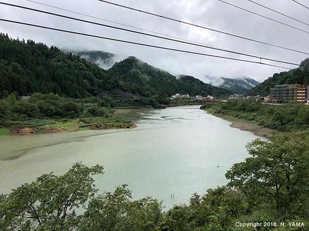 2018年9月9日、手取ダム湖
